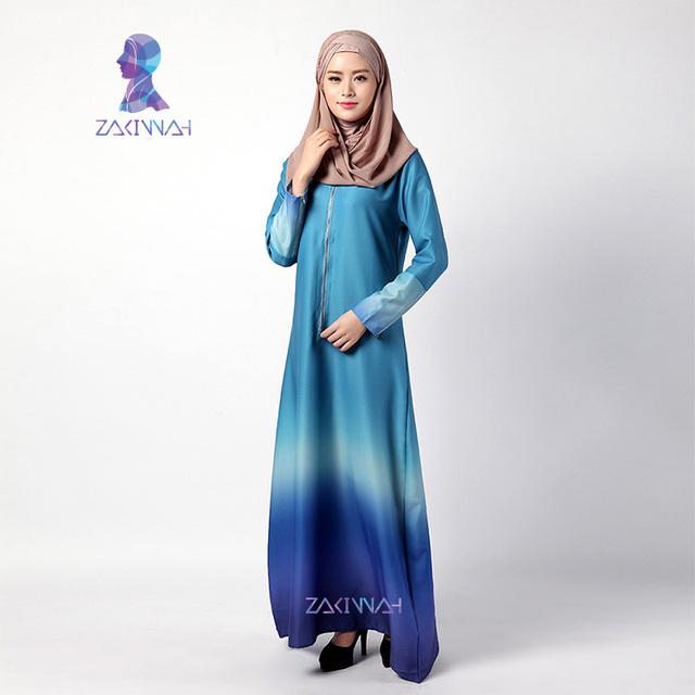2016 Nueva Llegada de la manera abaya turquía damas elegantes vestidos largos musulmanes ropa islámica para las mujeres