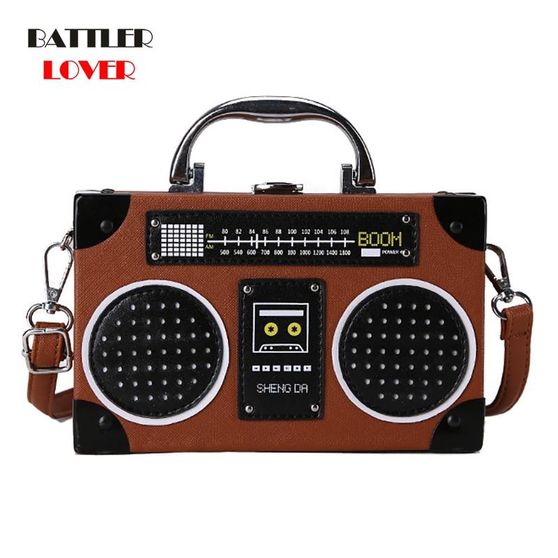 Radio Shape Design Bags for Women 2019 Bags Women Handbag Bolsa Feminina Female Shoulder Messenger Bag Luxury Handbag Womens Bag