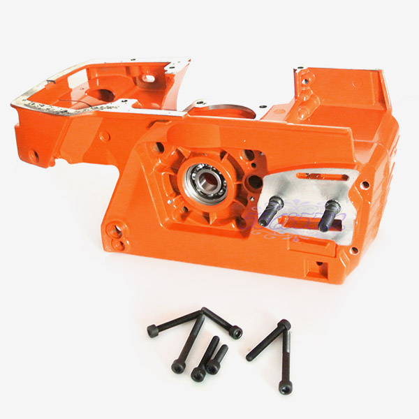Crankcase Engine Housing Crank Case W/ Bolts To Fit HUSQVARNA 268 272 Chainsaw 38mm engine housing cylinder piston crankcase kit fit husqvarna 137 142 chaisnaw