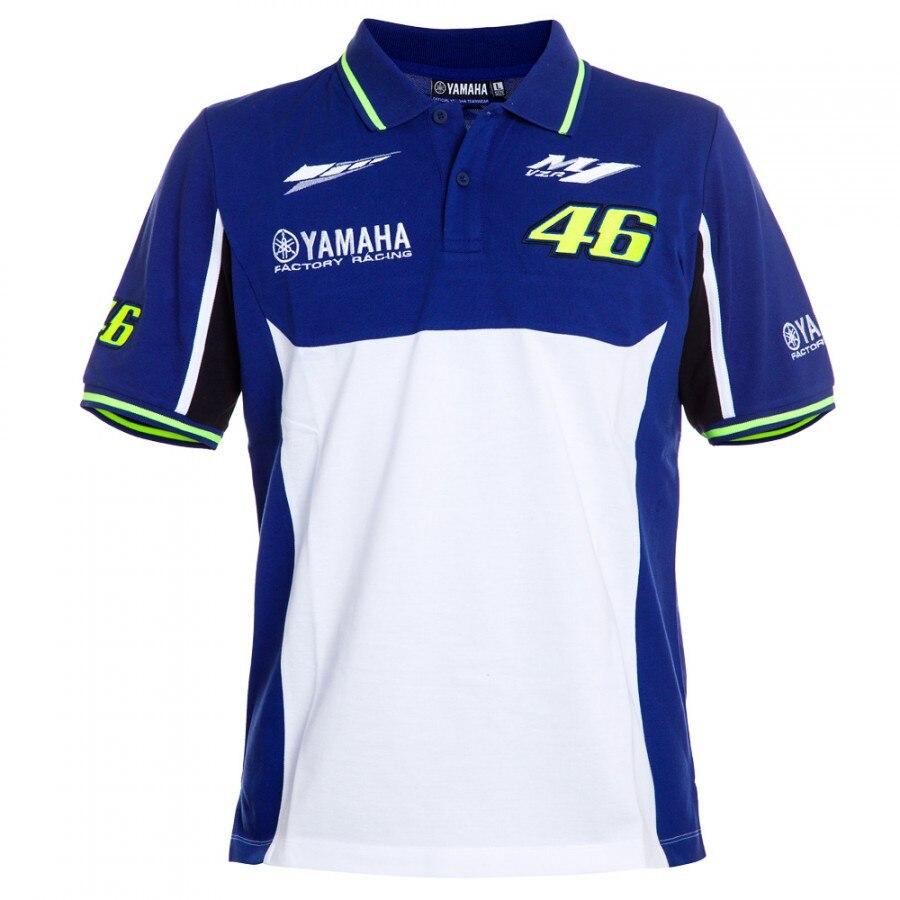 Valentino Rossi VR46 M1 Racing Team Moto GP per Yamaha Polo T-Shirt Moto