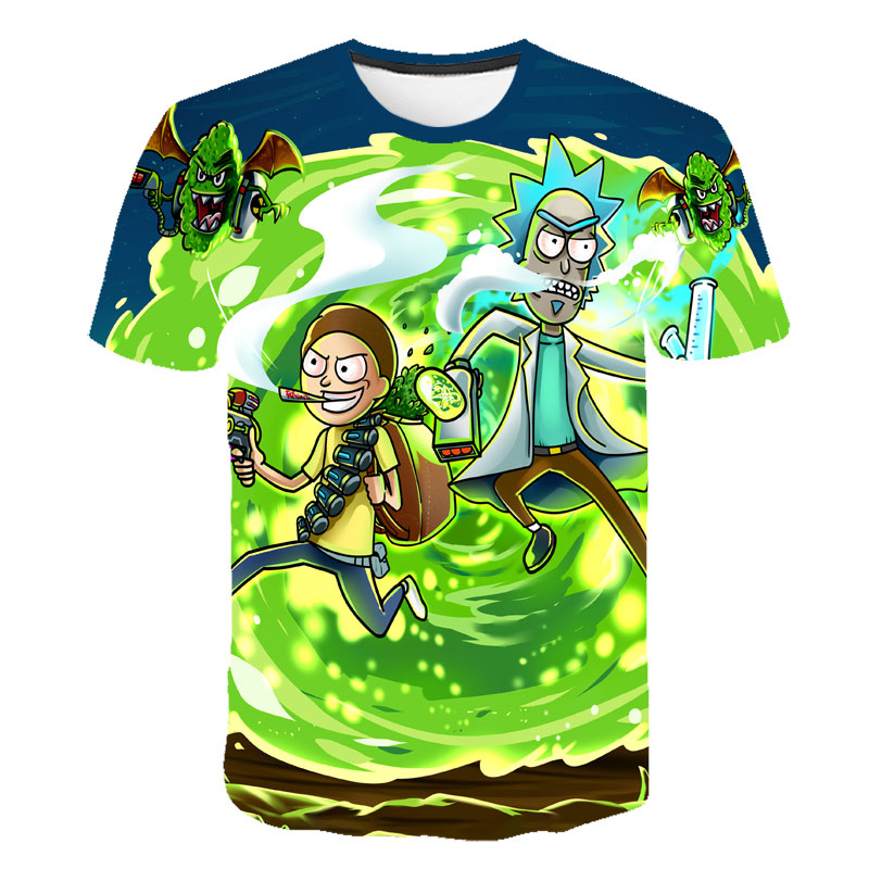 2019 Kids T Shirt Rick And Morty New Animated Fun T Shirt Summer Men And Women Fashion Rick Morty Cool Short Sleeves