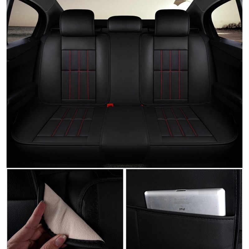 Skórzane pokrycie siedzenia samochodu obejmuje auto wnętrze akcesoria dla bmw x6 f11 f15 f20 f34 f48 jaguar E-PACE F-PACE I-PACE XE XF XJ x351