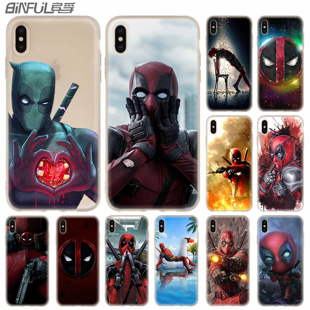 <font><b>Baseus</b></font> Clear Phone Cases Silicone soft Cover for <font><b>iPhone</b></font> 11 Pro X XS Max XR 6 <font><b>6S</b></font> 7 8 Plus 5 4S SE Deadpool Fundas Etui image