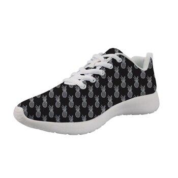 Zapatillas personalizadas para hombre con estampado de piña, zapatos casuales para hombre, zapatos cómodos para hombre, zapatos para caminar, zapatos transpirables