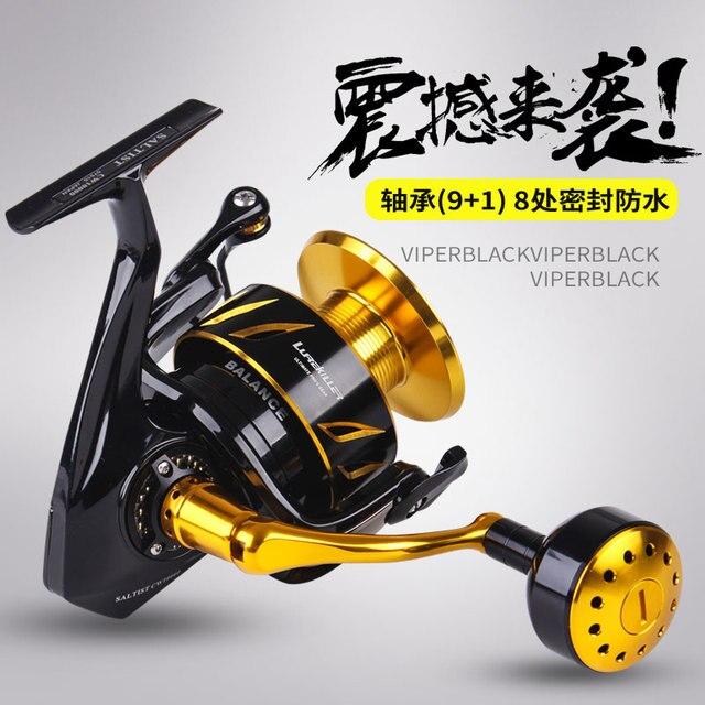 New japanese made Lurekiller Saltist CW3000-10000 Spinning Jigging Reel Spinning reel 10BB Alloy reel 35kgs drag power
