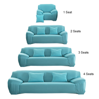 Modern Sofa Cover Fashion Slipcover Stretchable Pure Color Polyester Fiber Sofa Cushion Washable Home Office Hotel