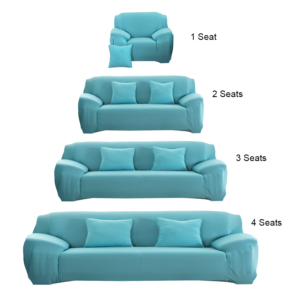 Modern Sofa Cover Fashion Slipcover Stretchable Pure Color Polyester Fiber Sofa <font><b>Cushion</b></font> Washable Home/Office/Hotel Sofa Covers