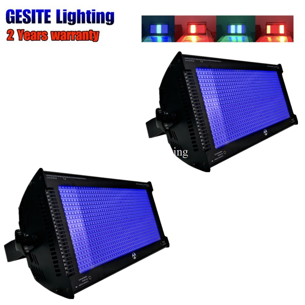 2pcs Professional 1000w rgb 3in1 led strobe light christmas strobe light rainbow effect