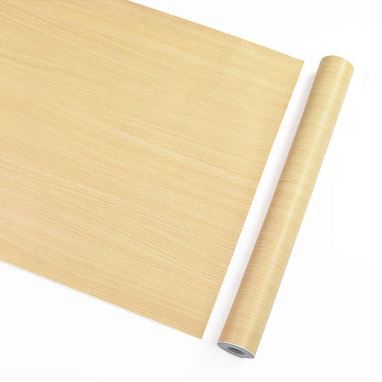 DIY 1M עמיד למים PVC ויניל דביקות עץ טפט מטבח ארון רצפת תקרת חידוש מדבקות על הקיר