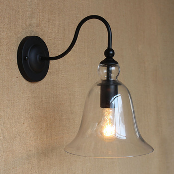 Vintage Brief Retro Style Wall Light Sconce Edison Bulb Lamp 220V  American industry wall lamps