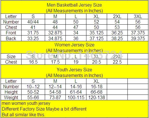 Jerseys size chart nba  also cheap besiktas jersey allen iverson basketball rh aliexpress