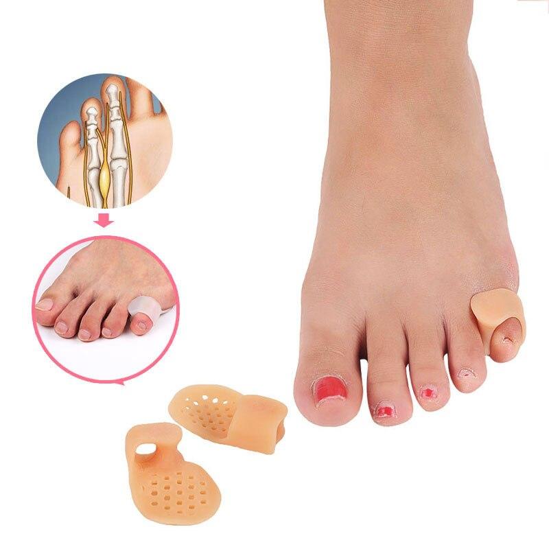 1 Paar Heißer Verkauf Resuable Silikon Fuß Finger Toe Separator Kleine Zehe Daumen Valgus Schutz Bunion Teller Wache Füße Pflege