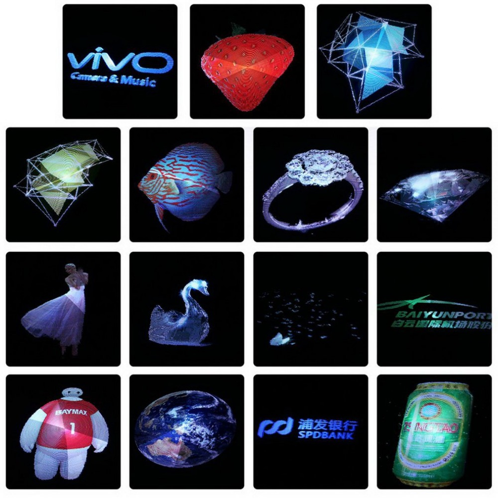 Newest 3D Video Fan Novelty Creative 3D Holographic Advertising Display LED Fan Hgh-tech 3D Naked Eye Holographic Imaging image