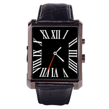 2016 New DM08 Smart Watches Bluetooth 4 0 Luxury Leather Business Wristwatch IOS Android for iphone