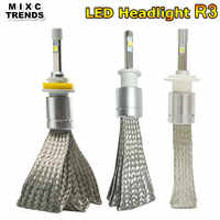 2Pcs LED Car Super Bright R3 80W 9600LM Car Headlight Bulb H7 H1 H3 H4 H11 9005 9006 Auto Front Headlamp Fog light Car Lighting