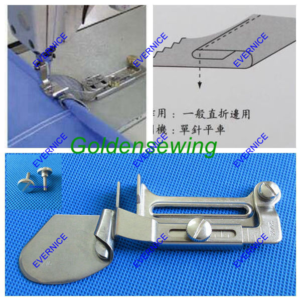 DOUBLE FOLD CLEAN FINISH HEMMING FOLDER ATTACHMENT for JUKI DDL-8700 8500 5550 please choose your wanted size