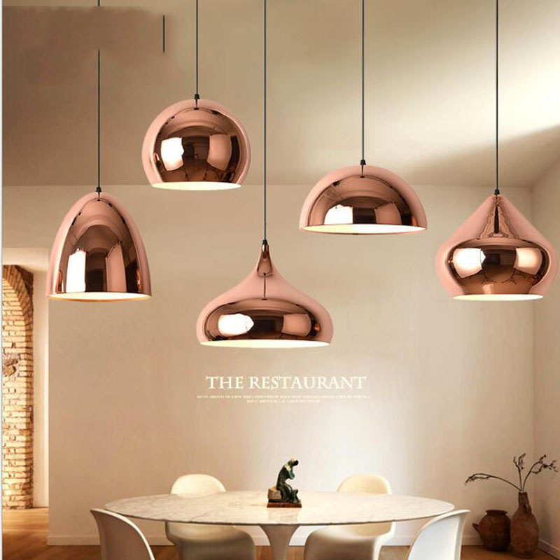 L Nordic light lamps modern dining table restaurant simple modern single head cafe bar industrial wind single head chandeli LED