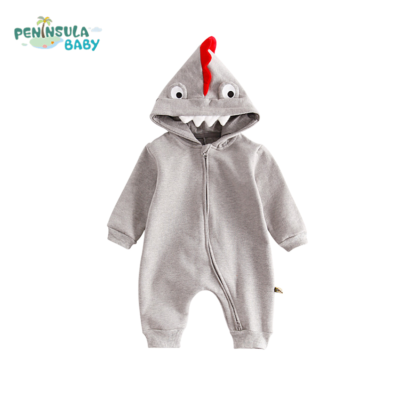 Baby Rompers Cartoon Animals Crocodile Overalls Hooded Costume Cotton Infant Jumpsuit Newborn Baby Boys Girls Warm Clothing newborn baby rompers baby clothing 100% cotton infant jumpsuit ropa bebe long sleeve girl boys rompers costumes baby romper