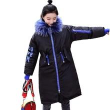 Brieuces Winter Jacket women 2018 Streetwear Coat Women Long Parkas Outerwear Down cotton hippop Female