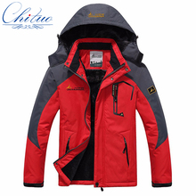 winter new mens Female jacket Plus velvet thickening down jacket waterproof windproof men s casual warm