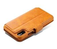 מקרה ארנק עור יוקרה 2 ב 1 נתיק כיסוי אחורי מגנטי עבור iPhone X טלפון Case תיק Case Flip עבור iPhone 6 6 s 7 8 בתוספת