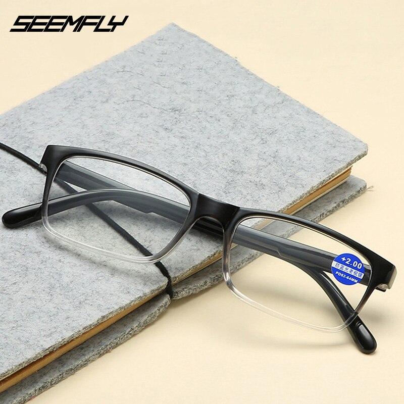 Seemfly Anti Blue Ray Reading Glasses Fashion Men Women Presbyopic Eyewear Anti-fatigue Eyeglasses Prescription +1.0 To +4.0 New