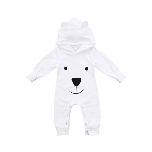 Newborn Infant Boys Girls Clothes Warm Hooded Rompers Jumpsuit Outfits