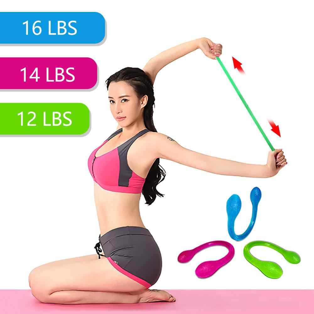 Napięcie mięśni opaski silikonowe Fitness trening jogi ciągnięcie Exerciser ciągnąć liny budowy ciała darmowa wysyłka