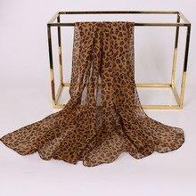 fashion leopard print scarf chiffon shawls capes 160*50cm 10 pcs / 1 lot neck stoles summer beach scarfs wholesale long stole