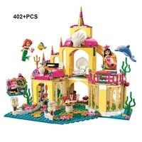 JG306 Princess Mermaid Ariel Undersea Palace Buildings Bricks Blocks Block Friends 41063 Building Blocks Toys Compatible