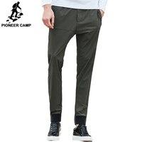 Pioneer Camp Новая Весна повседневные брюки мужчины марка одежды мода army green брюки мужчины лучшие качества slim fit брюки AXX703028
