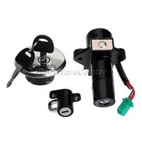 Aluminum Ignition Switch Lock+ Fuel Gas Cap Cover+ Seat Lock+ Keys for Suzuki GN250 1985 2001 GS750 1980 Motorcycle Lockset New