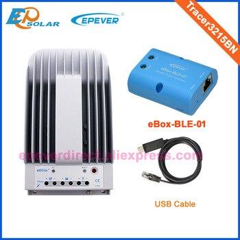 MPPT 30A 30 amperios Tracer3215BN EPEVER cargador de batería Solar  controlador USB cable PC conectar eBOX-BLE-01 comunicación inalámbrica