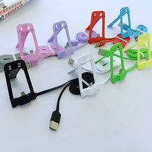 Etmakit Useful Micro USB Dock Charger Data Cable Holder Stand for Samsung LG Huawei HTC
