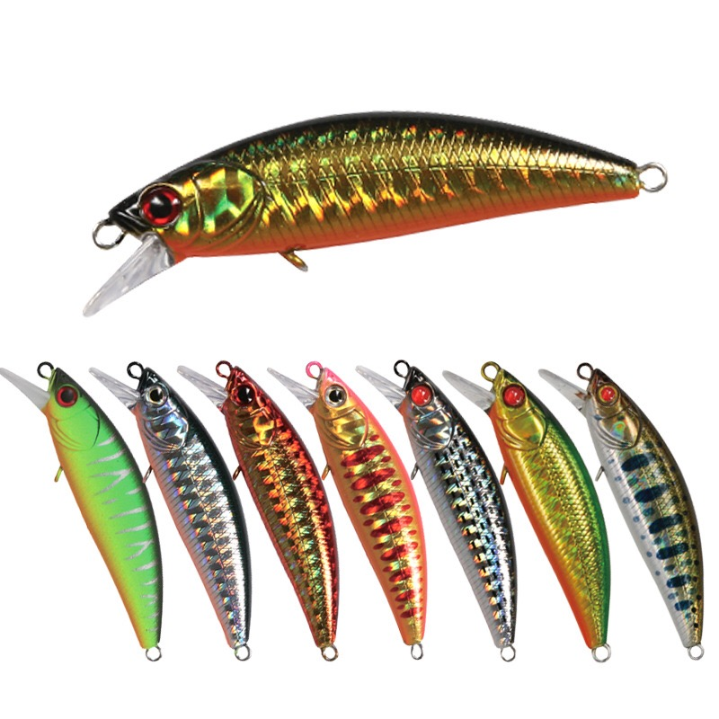 1 Pieces 6cm / 6g Bionic Minnow Fishing Lure Wobblers Artificial Hard Crank Bait Fishing Bass Bait Plastic Pike Carp Lures