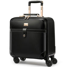 Luxury Travel Suitcase Rolling Spinner Luggage Women Trolley case 24inch Wheels Man 20inch Box PVC Vintage Cabin Travel BagTrunk(China)