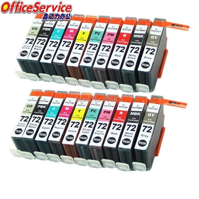 20X=2Sets PGI 72 PGI72 PGI 72 Compatible ink Cartridge For Canon Pixma Pro 10 inkjet printer