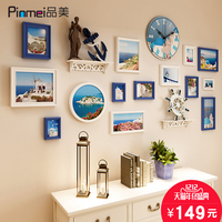The Living Room Photo Wall European Frame Wall Combination Of American Mediterranean Composite Solid Wood