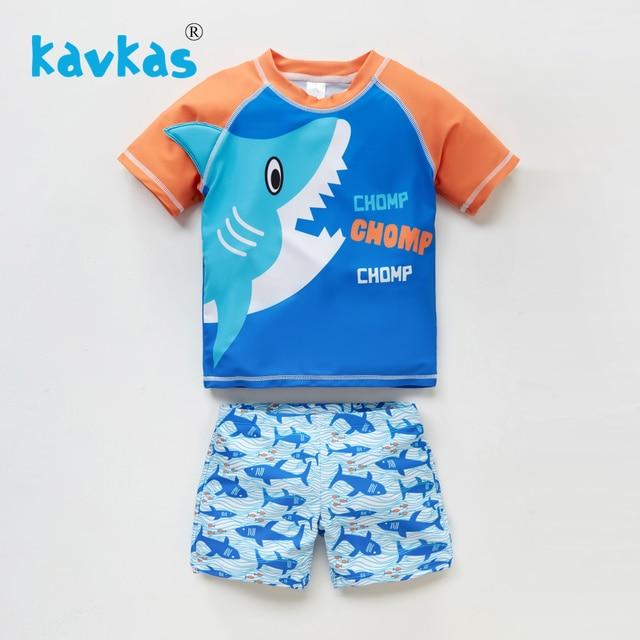 18M-6T kavkas Baby Girl Bathing Suit Cute 2 Piece Swimsuit with Short Sleeve Rash Guard Ruffle Swimwear Sets
