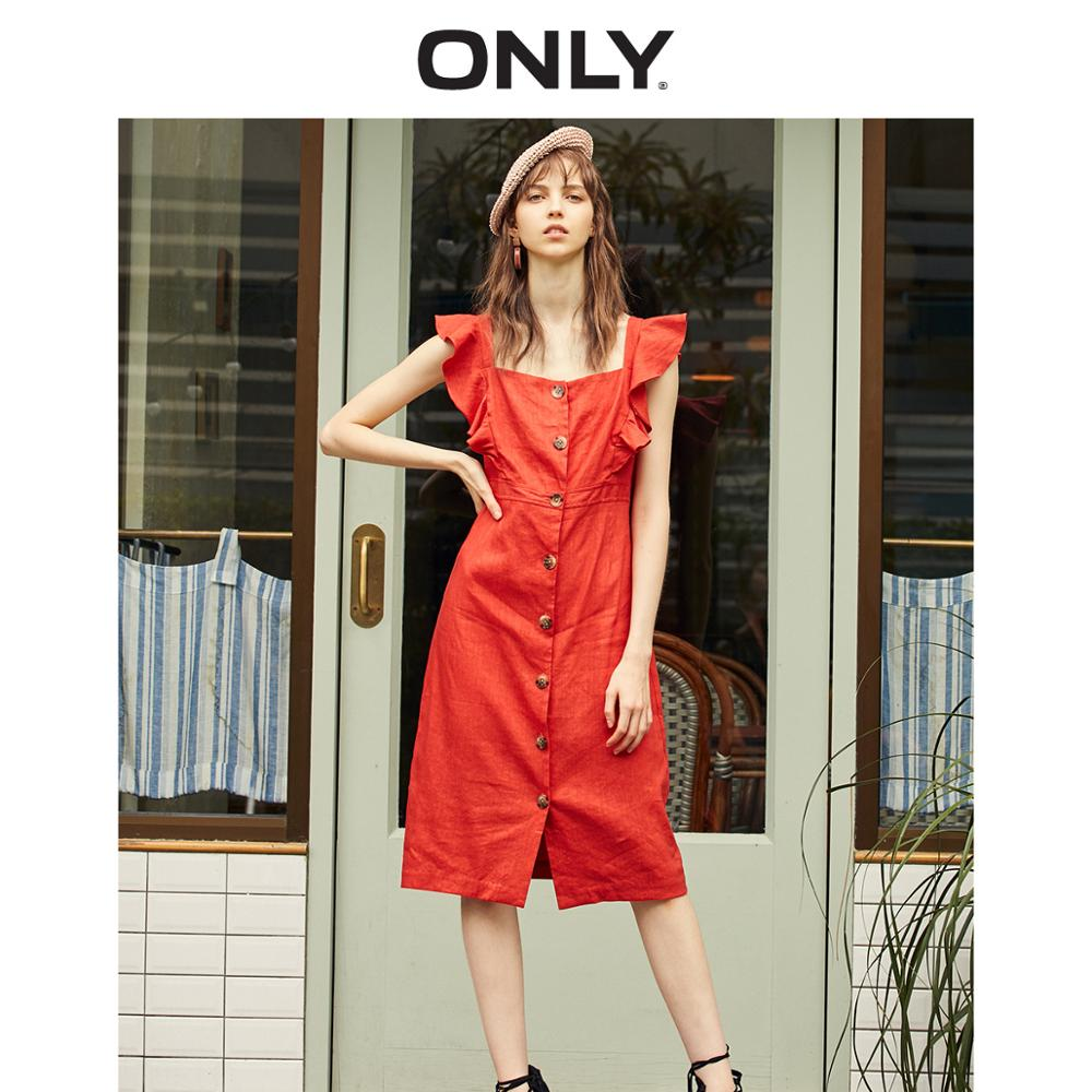 ONLY  Spring Summer New French Style Slim Fit A-line Dress |119107644