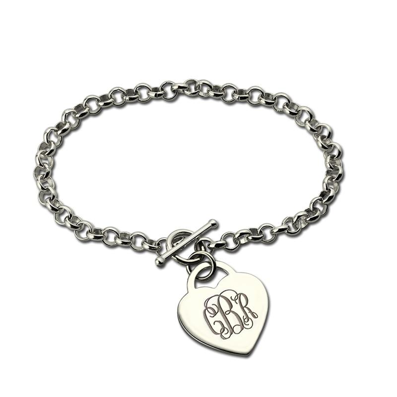 online kopen wholesale monogram armband zilveren uit china monogram armband zilveren groothandel. Black Bedroom Furniture Sets. Home Design Ideas