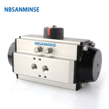 NBSANMINSE ST AT 125 ~ 160 D Air Torque Actuator Pneumatic Actuator Single Double Acting For Valve and Cylinder 75mm pneumatic actuator pneumatic double acting ball valve butterfly valve
