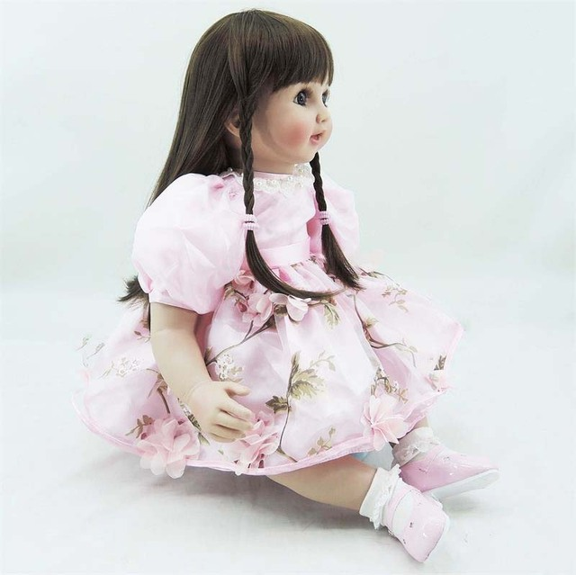 60cm silicone vinyl reborn baby doll toy like real simulated princess toddler girl babies doll new