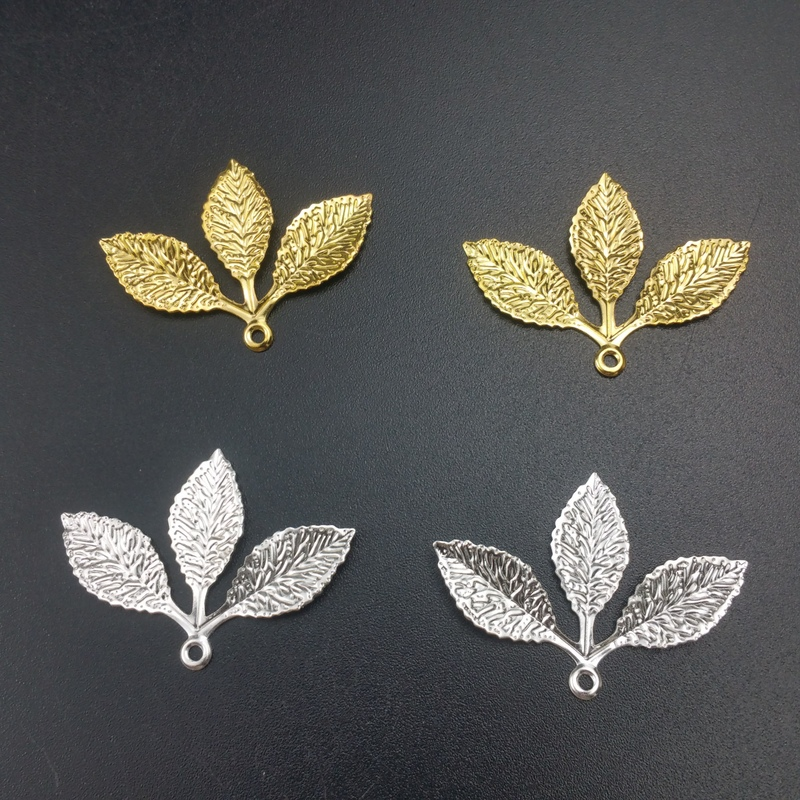 20 pieces/lot 27x32mm s metal Filigree leaf Wrap Connector Jewelry DIY Components jewelry accessory Bracelet