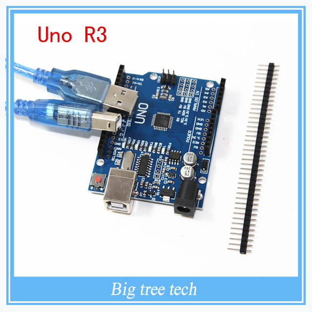 US $42 5  3D printer parts high quality 10PCS UNO R3 MEGA328P CH340 CH340G  for Arduino UNO R3 + USB cable with free shipping-in 3D Printer Parts &