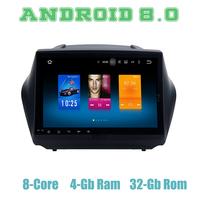 10.2 Android 8.0 car GPS radio player for Hyundai IX35 Tuscon 2009 2014 with Octa core px5 4G RAM wifi 4g usb auto Multimedia