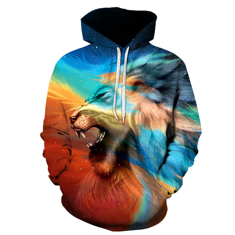 New 3D Hoodie Sweatshirt Mens Lion Printed Fashion Men Hoodies Sweat Homme Hip Hop Harajuku Mens Hoodies And Sweatshirts 6XL