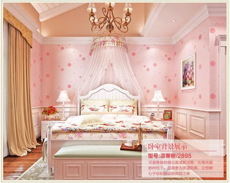 Koreaanse landelijke vliesbehang de zitkamer roze meisje