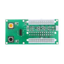 Настольных ПК блок питания ATX 2 шт. 24-контактный двойной блок питания Мощность синхронный стартовый удлинитель 4pin + sata кабель обнаружения для добывания монет Биткойн Расширенная