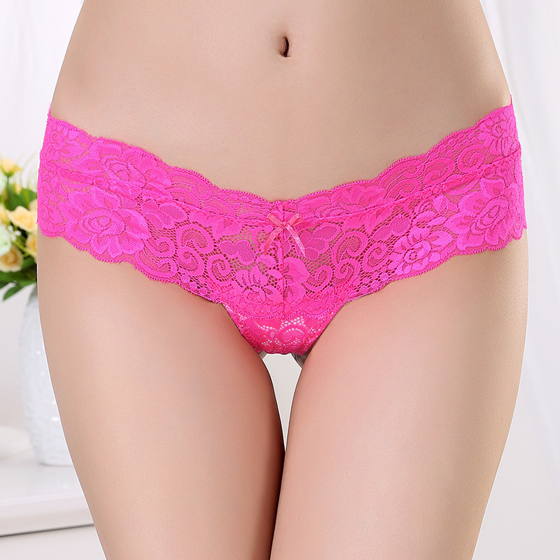 2017 Lace Women Sexy   Panties   Low Waist Hollow Transparent   Panties   Underwear Seamless G String Thongs 1pcs/lot dzk01